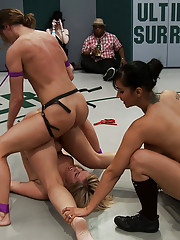 Massive 5 girl orgy as the losers are getting fucked & humiliated in front of the crowd.  Isis Love joins in & it is a brutal fucking for the losers.