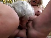 Bi curious grannies get some muff