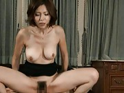 Mai Hanano rides a mans cock inserts it deep then moans