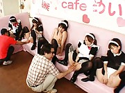 Japanese AV Model cute girls ready to suck cock in class
