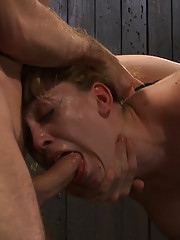 Lily is bent over, legs spread for ass plug, fisting. She takes a mean throat fucking. Nipples tied down and fucked hard. Orgasms galore.