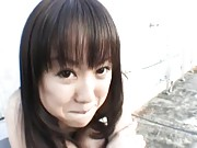Junko Hayama is very flexible as she gets fucked outdoors