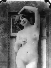 Full frontal nudity chicks posing in thirties