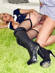 A british slut shagged doggystyle by senior