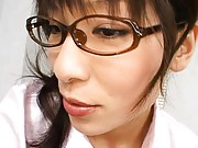 Kaho Kasumi hot cosplay doctor stroking her patients cock