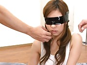 Ami Kurosawa is blind folded and groped in this creampie video