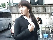 Japanese AV Model meter maid is very horny and wants to fuck