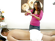 Hot asian baby gets drilled hard in these hidden cam massage table fuck vids