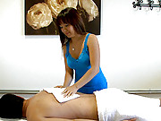 4 hot hidden camera vids of horny big tits asian babe fucking in these massage parlor vids
