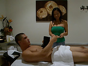 Hot ass big tits asian jerks and fucks a horny cock in these real asian massage parlor hidden camera movies