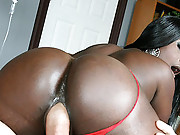 Ghetto queen gets her bubble ass fucked by a big cock