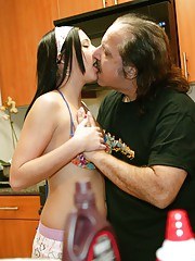 Dirty old dog Ron Jeremy scores young pussy again