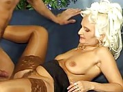 Granny sucks and fucks hard cock