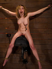 Former fashion &runway model is bound, trapped on a Sybain. Brutal orgasms are ripped from her helpless pleading body, she begs for mercy & gets none