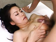 Hina Hanami spreads her legs so she can be fucked very deeply