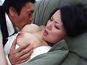 Miki Sato´s nipples get pinched, sucked on and squeezed