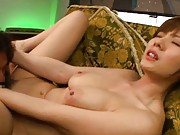hot MILF Yuma Asami´s cunt gets licked and sucked on by a guy