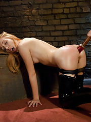 Emma ass fucked, dominated and double penetrated in kinky threesome.