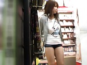 Japanese AV Model wears tiny clothes in a public place