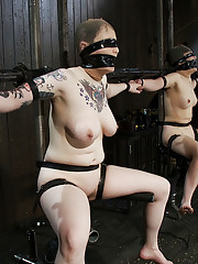 Two pain sluts get dicked down by the hardest, fastest fucking machines ever made. Muffled screaming to relentless fucking while blindfolded.