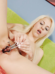 Some girls use a cheap plastic speculum to examine their vagina on camera. Not true for Sharon. She wants nothing but the very best - a medical grade metal speculum capable of holding her cunt open at...