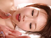 An Nanairo takes a cock deep inside her tight pussy and moans