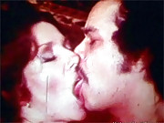 Very hot couple twisting tongues in sixties