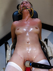 Chloe Camilla bound, gagged, machine fucked, made to cum over and over. See her 1st ever DP that makes her shake, quiver, and convulse in cum space!