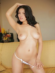 Natalia Spice caresses her flawless body in such a sensual casual day