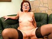 Horny granny loves to ride cock