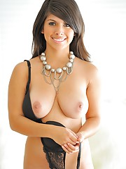 Leila shows off her huge breasts