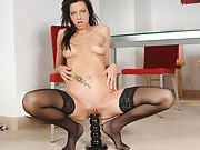 Sluts Ramming Black Dildo