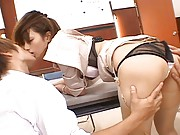 Nao Yoshizaki´s sexy ass gets played with before she gets licked