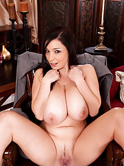 Cougar secretary Michelle Bond spreads her tight ass exposing her slick pussy