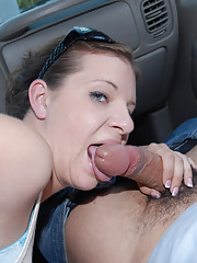 Hot blonde jerks off a cock and masterbates while driving in traffic hot reality pics