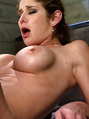 Felony squirts in her face from machine ass fucking, gets nailed by big cock until she LAUNCHES squirt, endures O denial with Sybian and The Fucksalls