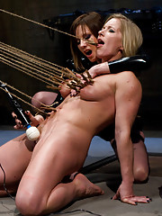 Dia Zerva submits one last time on film, getting brutally whipped, made to lick ass and feet, suspended then tickled and ass fucked to orgasm.