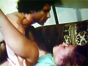 Hairy dude fucks retro hot chick in seventies