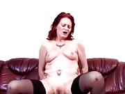Amateur granny fucking on top