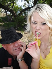 Young and kinky slut having slut with a grandpa