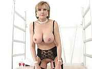 Amazing mature teases with her tits