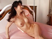 Misuzu Shiratori sucks a giant, long cock that will fuck her ass