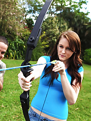 Hot teen nailed hard by her bow and arrow instructor hot outdoor fucking screaming pics