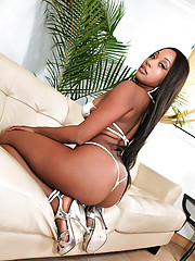 Hot beautiful smoking smooth skin ebony gets her box crushed hard in these amazing hot pics
