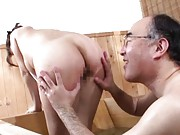 Sakiko Mihara lets this old man tease her mature ass and pussy