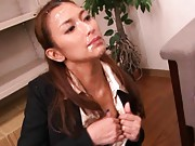 aya model giving blowjob after bdeing jizzed ovet and over again