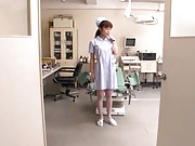 Mika Kayama is a horny nurse who needs dick in her pussy