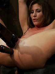 Airel X is double penetrated while Cherry Torn takes Omega, the aggressive fucking machine in the ass.