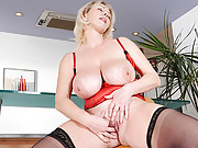 Natural Anilos Kimi massages her big tits and plays with herself