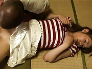 Yuki Igawa sucks cock before her shaved cunt gets licked
